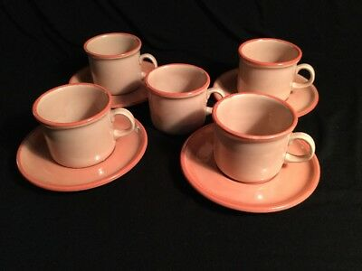 Vintage Rare CIPA PORCELLANA Demitasse Express 4 Cups & Saucers + 1 Cup Italy