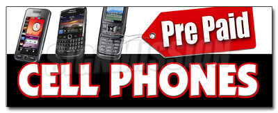 """48"""" PREPAID CELL PHONES DECAL sticker calling cards disposable long distance"""