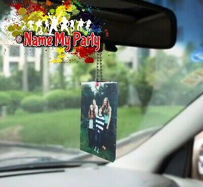 Personalised Car Air Freshener Add Own Photo Great Gift Birthday Mother's Father