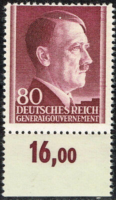 Germany WW2 Third Reich Hitler Birthsday stamp 1943 MNH