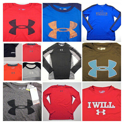 Youth Boys UNDER ARMOUR SHIRTS All Sizes-Click SIZE for list - Athletic School