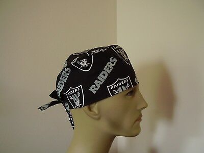 Surgical Scrub Hat/ Cap - NFL -  OAKLAND RAIDERS -  One size -  Handmade