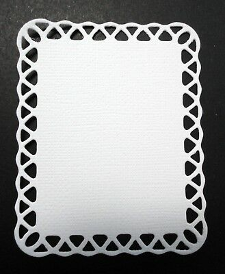 Card Toppers- White-Pkt 5
