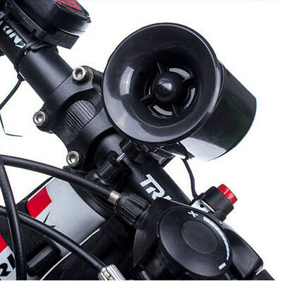 Black Ultra-loud Speaker 6Sounds Electronic Bicycle Alarm Bell Horn Bike Siren