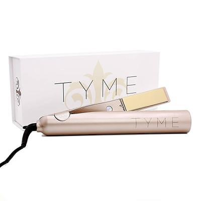 TYME Gold Plated Titanium 2-in-1 Hair Straightener Curling Flat Hairstyle Tool