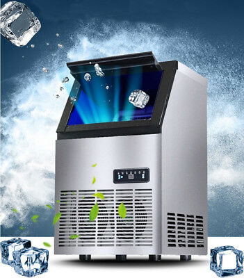 110V 50Kg Undercounter Commercial Ice Maker 110Lbs 230W Auto Ice Cube Machine