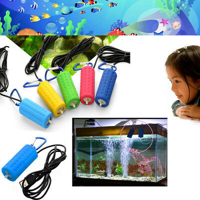 Mini USB Aquarium Oxygen Air Pump Fish Tank Silent Mute Energy Saving Tool nuovo