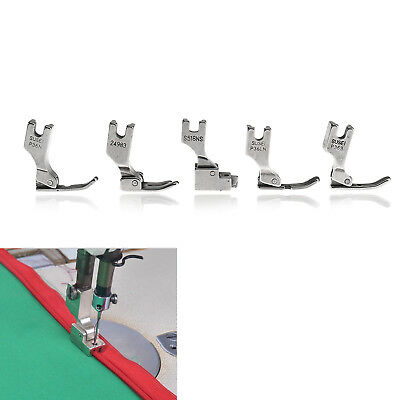 5X Right Left Narrow Zip Zipper Foot For Brother Juki Industrial Sewing Machine