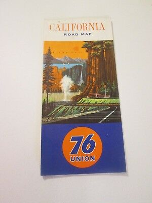Vintage 1965 Union 76 California Oil Gas Service Station Travel Road Map