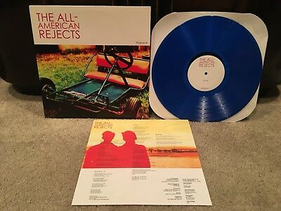 "The All-American Rejects ""S/T"" Colored Clear BLUE Vinyl LP RECORD /200 RARE OOP"