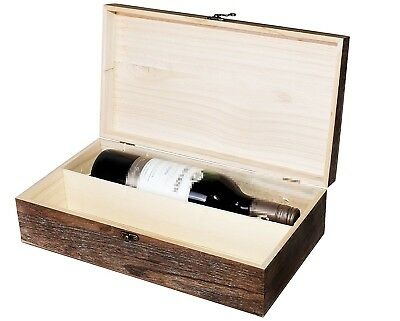 (Brown Colored, 2 Bottles) - Wooden Wine Box Holder Case 1/2/3 Bottle/s Two