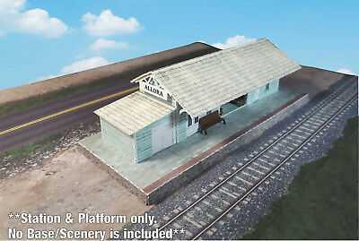 N Scale Building - Passenger Station (Cover Stock PRE-CUT Paper Kit)