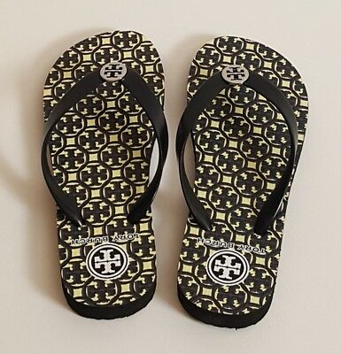 240a2d59cfff Tory Burch Black Lattice Combo Thin Flip Flop-PVC Upper 960 EVA SOLE NWT  Size