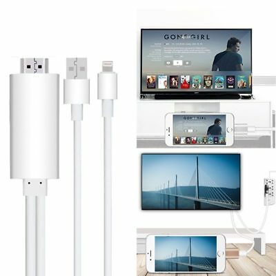 Lightning auf / zu HDMI Adapter Kabel Digital AV HDTV iPhone7 6 6S X iPad 1,8m