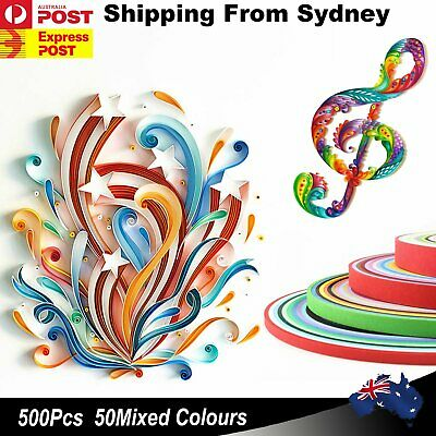 500Pcs 5mmx35mm Strips Quilling Paper Tool Set Mixed DIY Handcraft Full Kit Kid