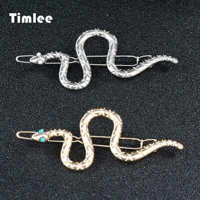 Timlee H124 Contracted Personality Snake Metal Hair Clip Fashion Hair Accessory