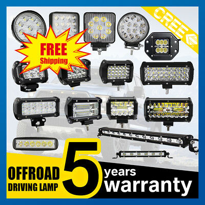 CREE LED Work Light Bar Spot Flood Offroad Roof Light Driving Lamp Truck Car 4WD