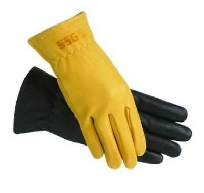 (Mens/10, Natural) - SSG Rancher Riding Gloves. Free Delivery