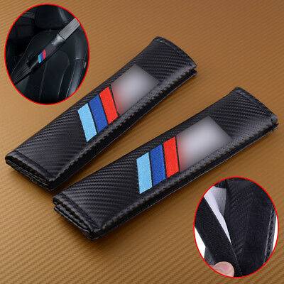 2pcs For BMW Seat Belt ///M Power Performance Logo Safety Shoulder Covers Pads