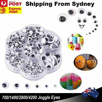 UP 4200x Joggle Moveable Black Eye Wiggly Google Googly Eyes Kids DIY Craft Art