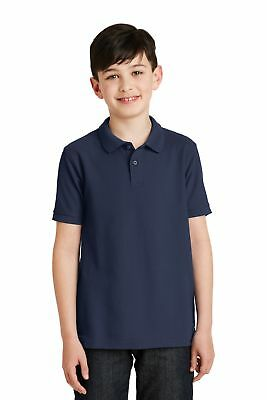 Port Authority  Youth Silk Touch Polo. Y500 Navy M