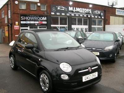 2012 62 fiat 500c 1 2 pop 2dr white convertible petrol rh picclick co uk