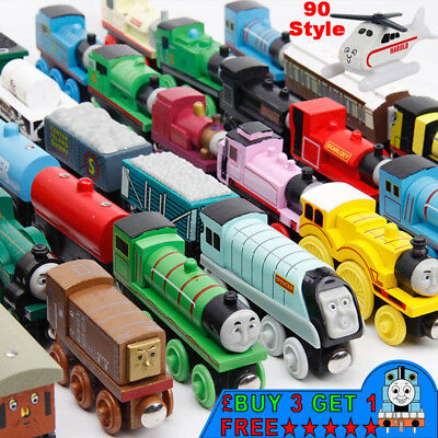 The Tank Engine Tender Wooden Magnetic Railway Train Toys Truck Car Kids Gifts .