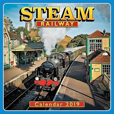 Steam Railway Official 2019 Wall Calendar New & Sealed