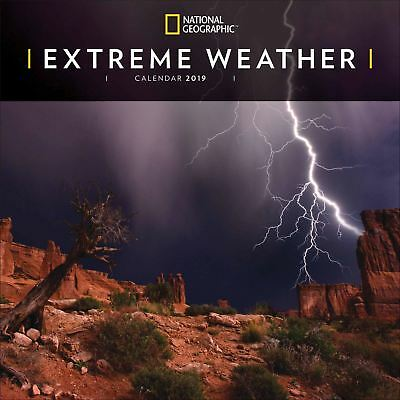 Extreme Weather National Geographic Official 2019 Wall Calendar New & Sealed