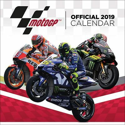 Moto GP Official 2019 Wall Calendar New & Sealed