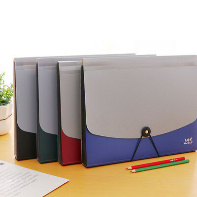 13 Pockets Expanding File Folder A4 Organizer Bag Flap and Cord Closure