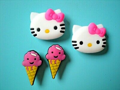 Garden Clog Shoe Charms Button For Accessories Fits Bracelet Hello Kitty