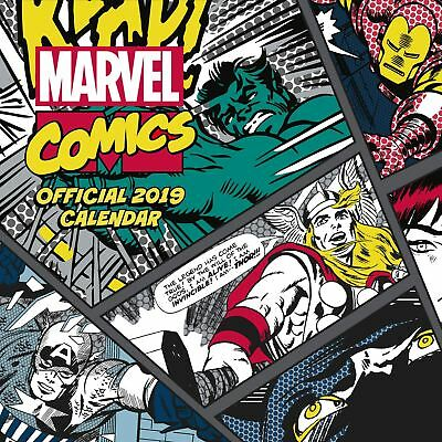 Marvel Comics Classic Official 2019 Wall Calendar New & Sealed