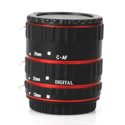 UK Auto Focus AF Macro Lens Extension Tube Ring Adapter for Canon EOS EF-S Lens