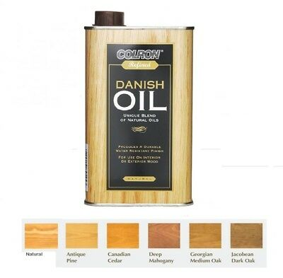 NEW Colron - Refined Interior & Exterior Wood Danish Oil - 6 Colours - 500ML
