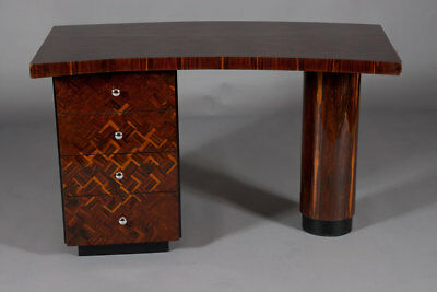 Extremely Eleganer Desk in the Art Deco Style Rosewood