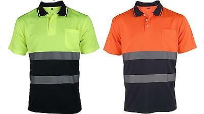 Traega TPS03 Hi Vis Viz 2 Tone Contrast Polo Shirt - Various Colours & Sizes