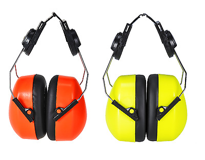 Portwest PS47 Endurance Helmet Mounted Ear Protector Defender HV Hi Vis