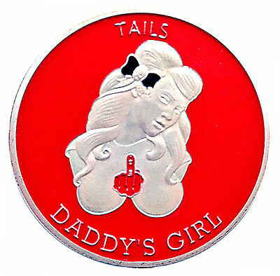 Beware the Bitch Daddy's Girl Head Tail Good Luck Challenge Coin US FAST SHIPPIN
