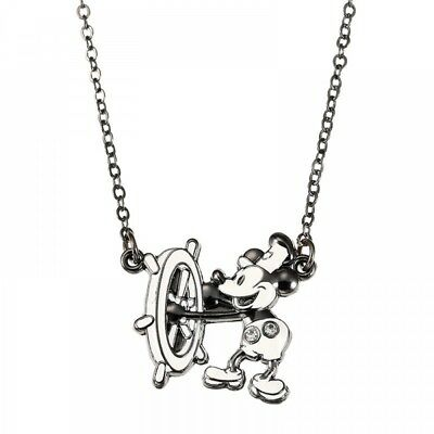 New Disney Store Japan Necklace Mickey Steamboat Willie 90th Anniversary Star