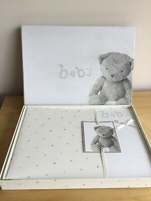 Marks And Spencer M&S Baby Keepsake Scrapbook With CD Christening Present