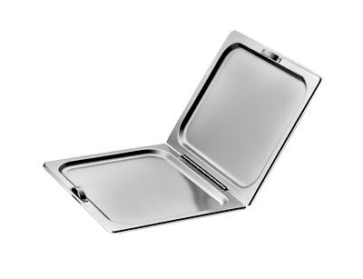 Winco C-HFC1 Full Size Stainless Steel Hinged Steam Table Pan Cover