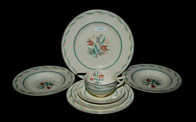 8 piece Wedgwood FANFARE one 5 piece place setting plus 3 extras