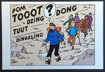 IN TIBET WITH TINTIN Exhibition Postcard Moulinsart no.068 Mint