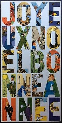 TINTIN Greeting card 1965 Signed Hergé Very good condition