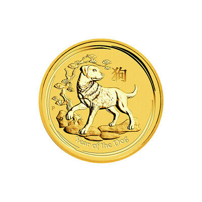 1/4 oz 2018 Perth Mint Lunar Year of the Dog Gold Coin
