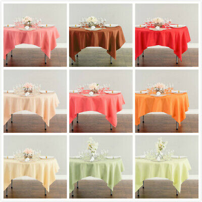 LinenTablecloth 70 in. Square Polyester Tablecloths, 32 Colors! Wedding&Event