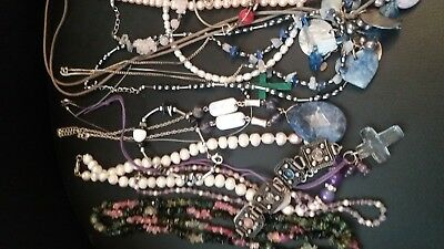 Large Job Lot Of Gemstone Jewellery