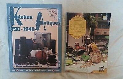 LOT OF 2 KITCHEN ANTIQUES & APPLIANCES COLLECTOR'S BOOK  Reference identify