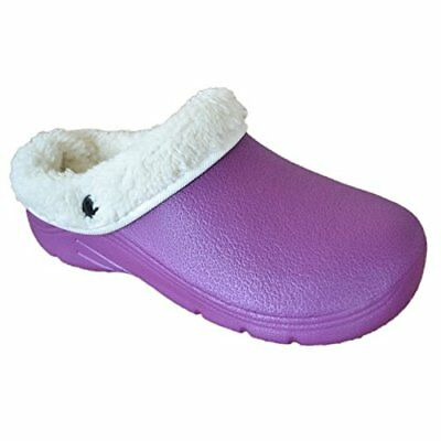 Briers WomensLadies Footwear Gardening Clogs With Removable Fleece Lining, Lila